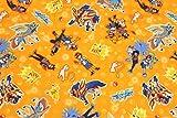 キャラクター生地 ポケットモンスターw(ポケモン)サトシ ゴウ ピカチュウ ヒバニー ミュウ ザシアン ザマゼンタ コットン100% シーチング Pocket Monster Pokemon 45cm X 110cm