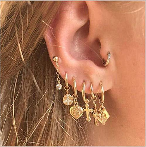 Cathercing, orecchini a cerchio vintage ipoallergenici per donne e ragazze con perle, orecchini alla moda