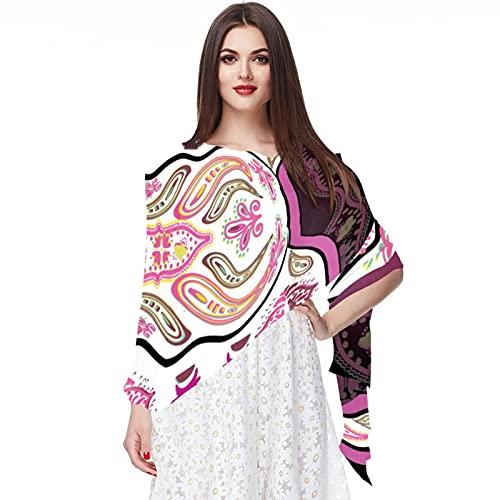 WJJSXKA Bufandas para mujer, estampado liviano, estampado floral, bufanda, chal, bufandas de moda, chales de protección solar, tarjeta de felicitación con elefante