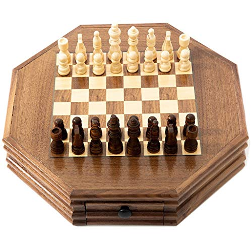WYDA Chess Star Anise Chess Set,Standard Chess Game Set,Gift for International Chess Lovers/Beginner and Learners Traditional Strategy Game