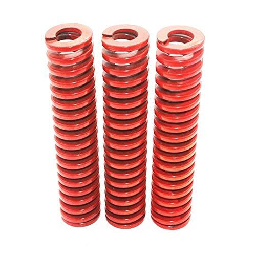 XBF-TOOL, X-Baofu, 3Pcs Red Medium Carga de compresión del Muelle Externo 6 mm de diámetro Cargando Die Mold Muelle Interior 3 mm de diámetro Longitud 15-60m (tamaño : 6 x 3 x 45mm)