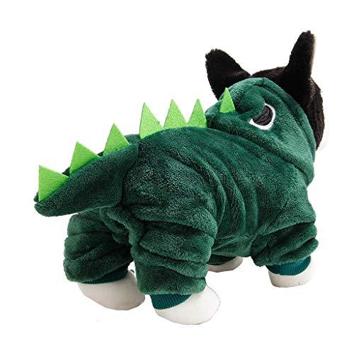 Longra Costume di Dinosauro per Cani Autunno Inverno Caldo Maglione Camicia Maglione Vestiti Maglia Vestiti Carnevale Cani Cappottino Cane Taglia Piccola Cappotto