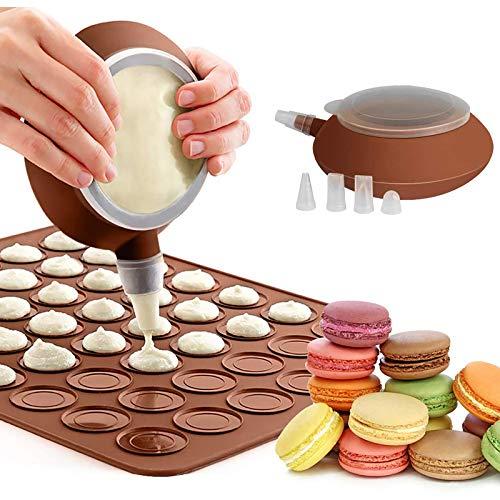 CONSUNDYTT Macarons Molde De Silicona, Puede Contener 48 Mac