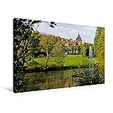 Premium Textil-Leinwand 90 x 60 cm Quer-Format Haus