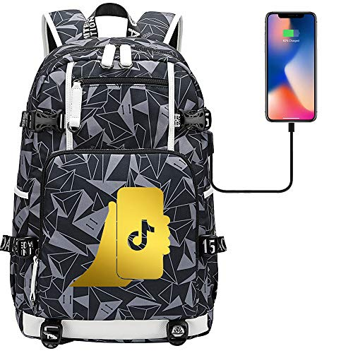 Travel Backpack Girl Leisure Backpack Laptop Tablet Computer USB Charging Port Camping Backpack 45 cm x 30 cm x 15 cm. Type D.