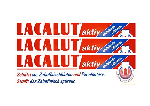 3x LACALUT aktiv Zahncreme 100 ml PZN 5484132 Parodontose Zahnfleischbluten