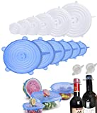 Silicone Stretch Lids(16 Pack),stretch and seal Silicone Bowl Covers For Food Storage and Fresh Keeping,Reusable Durable Miracle Lids-Fit Various Sizes and Shapes of Containers,Dishwasher Safe
