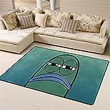 Zmacdk Bob Esponja alfombra de área cuadrada antideslizante para niños sala de juegos dormitorio 6 x 8 pies (180 x 240 cm), Bob Esponja