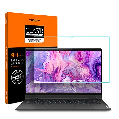 Spigen Tempered Glass Screen Protector Designed for Lenovo IdeaPad Flex 5 (14 inch / 14ARE05 / 81X20005US) [9H Hardness]