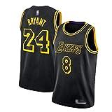 CLKI Jerseys de Baloncesto de Kobe Bryant Lakers, Kobe No. 8 Plus Nº 24 Uniformes de Baloncesto de edición Especial, Camiseta cómoda para Hombre L