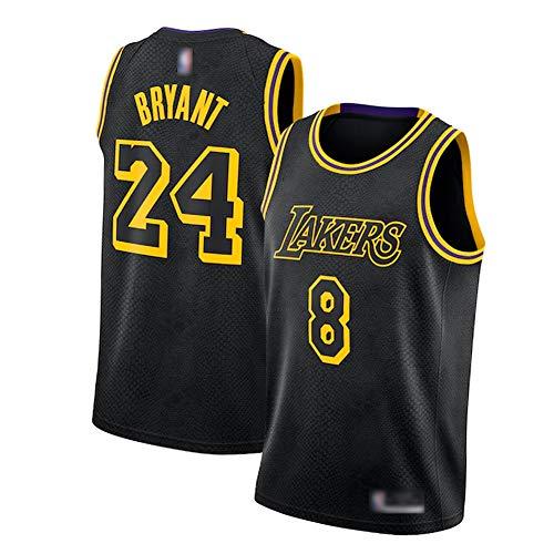 CLKI Jerseys de Baloncesto de Kobe Bryant Lakers, Kobe No. 8 Plus Nº 24 Uniformes de Baloncesto de edición Especial, Camiseta cómoda para Hombre XXL