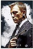 Rompecabezas Adultos Niños Puzzle 200 Piezas Película James Bond Daniel Craig Gift Mural 13.7x9.8inch(35x25cm) Sin Marco