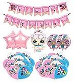Globos Cumpleaños para Lol Surprise Decoracion Lol Surprise Cumpleaños Pancarta Lol Remolinos Colgantes de Decoración...