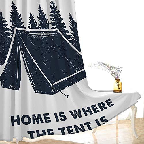 CLYDX Gardinen Blickdicht Verdunkelungsvorhang - Lichtundurchlässige Vorhang Ösen Vorhänge für Schlafzimmer Geräuschreduzierung 75x166 cm (WxH), 2Er Set - Camping Zelt