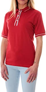 Tommy Jeans Red Shirt Neck Polo For Women, Size Large