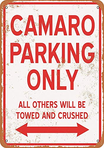 Boydf333o Tin Signs Camaro Parking ONLY Vintage Style Metal Poster Plaques for Funny Wall Decoration Art Sign Gifts for Christmas - 7x10