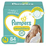 Diapers Newborn/Size 0 ( 10 lb), 84 Count - Pampers Swaddlers...