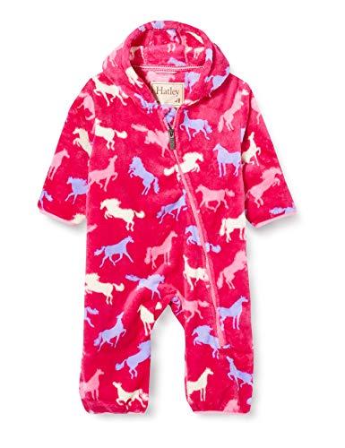 Hatley Fuzzy Fleece Bundler Traje para nieve, Siluetas de caballo, 6-9 meses Bebé-Niñas