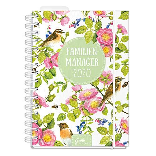 Familienkalender 2020 DIN A5, Wochenplaner für Familien 5 Spalten, Kalender Ringbuch mit Hardcover und Gummiband, Kalenderbuch 2020 mit vielen Extras