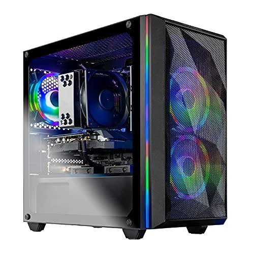 SkyTech Chronos Mini Gaming Computer PC Desktop - AMD Ryzen 5 3600 3.6 GHz, GTX 1650 4G, 500G SSD, 8G 3000, RGB Fans, AC WiFi, Windows 10 Home 64-bit