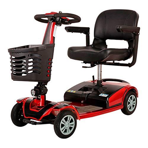 SMARTGYRO Avanza M10 - Scooter eléctrico de 4 Ruedas (Motor de 350w, batería de Litio de 10.000 mAh, 8 Km/h, Asiento Giratorio, Desmontable, Autonomía de 28 Km), Scooter de Movilidad Reducida