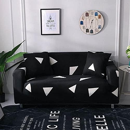 WXQY Funda elástica para sofá, Funda para sofá de Sala de Estar, Funda para sillón de Esquina en Forma de L, Funda para sofá elástica Completa A19 de 3 plazas