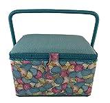 Dritz St Jane Sewing Basket Rectangle Sewing Box (Yarn Ball Design)