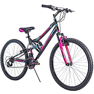 "Huffy 26"" Trail Runner Women's Mountain Bike, Black & Pink"