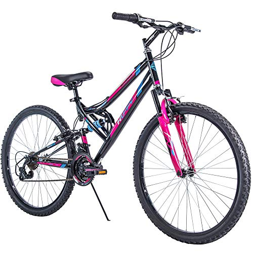 Huffy 26' Trail Runner Women's Mountain Bike, Black & Pink