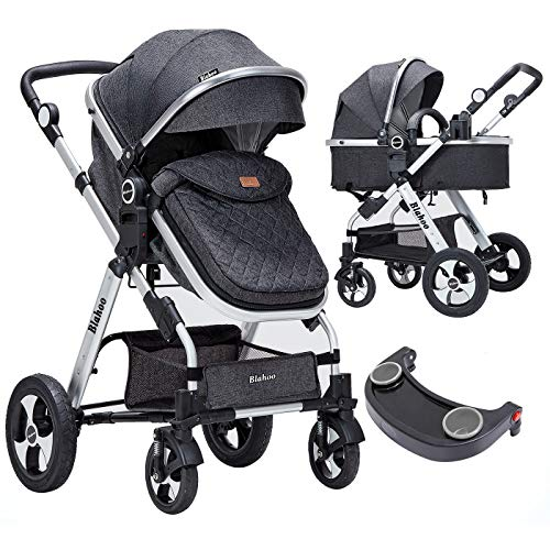 Blahoo Baby Stroller for Newborn, 2 in1 High Landscape Stroller, Foldable Aluminum Alloy Pushchair with Adjustable…
