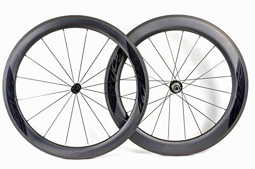 aerycs AERO Carbon Laufradsatz für Rennrad und Triathlon C 55/55 SL C AERO, 16/20 DT-Swiss Messerspeichen, Felgenhöhe 55mm, Breite 28mm, Gewicht 1530g