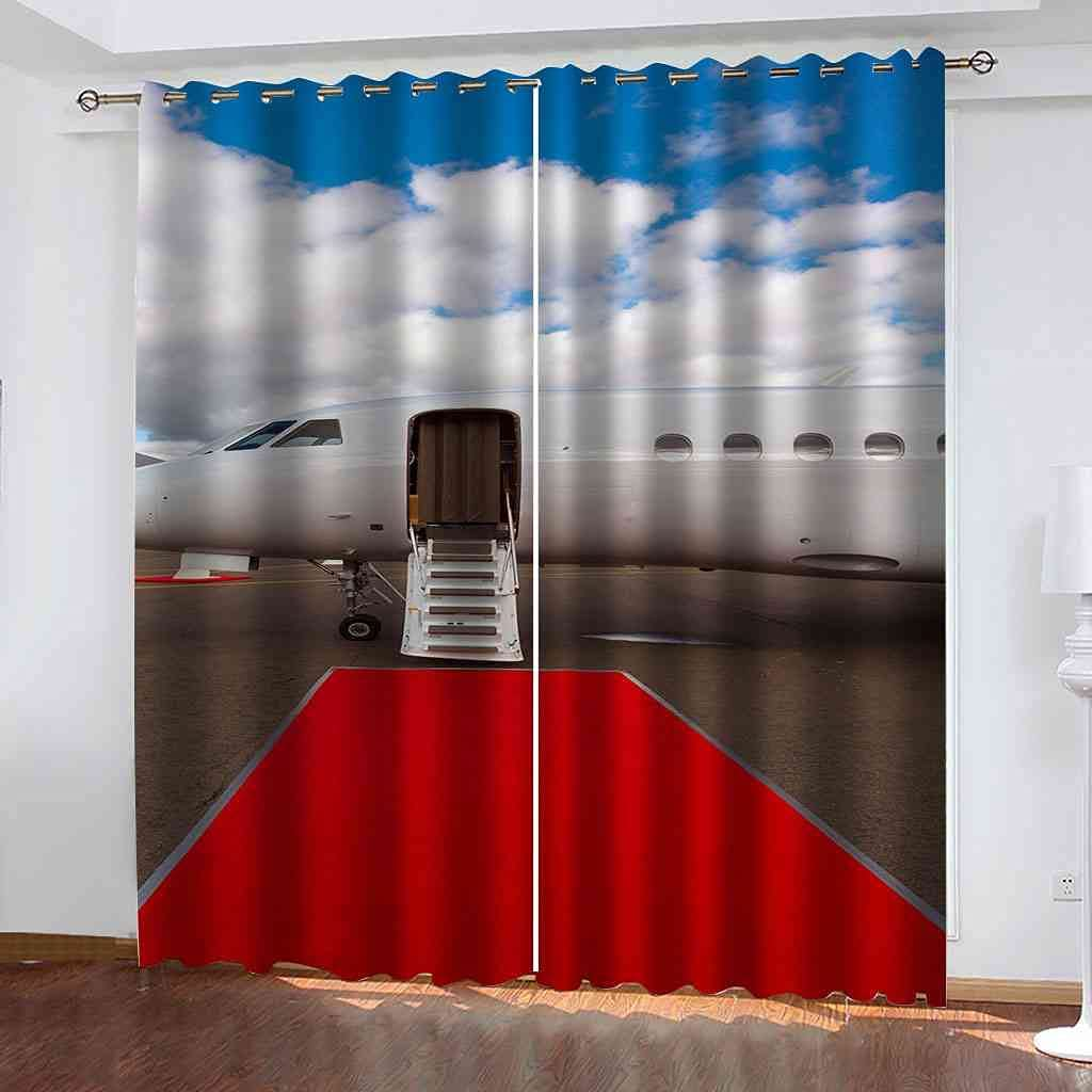 KQDMYT Blackout Curtains Red Carpet Ener Top Ring Selling overseas Eyelet Airport