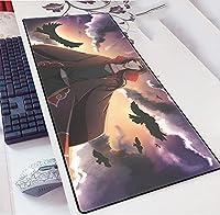 アニメナルトラージゲーミングマウスパッド、拡張マウスパッド、滑り止めラバーベースのマウスマット、耐久性のあるステッチエッジのキーボードパッド-A_700x300x3mm