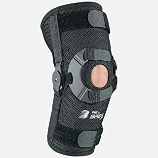 Breg PTO Airmesh Soft Knee Brace, Open Back, with Aluminum High Performance Hinge Bars (X-Large Left)