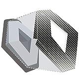 JCM - Stemma anteriore e posteriore carbonio argento