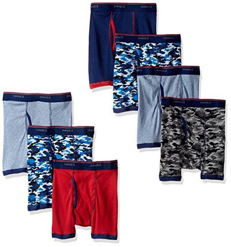 Hanes Boys Red Label Comfort Flex Sport Ringer Boxer Briefs 7 Pack, Assorted, X-Large