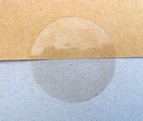 80mm Rund X Pack von 20 Glanz Transparent Siegel - Entfernbarer Geringer Klebstoff Selbstklebend Aufkleber