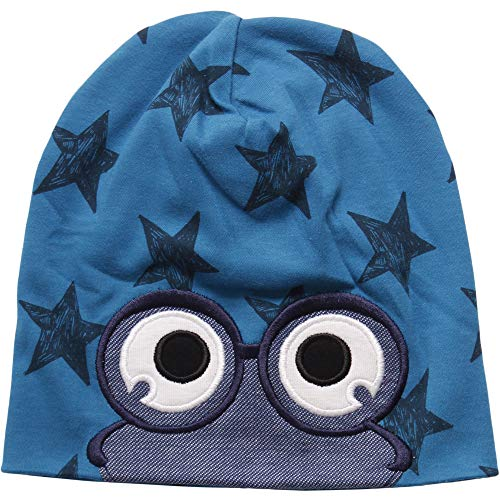 Fred'S World By Green Cotton Star Beanie Bonnet, Bleu (Deep Blue 019434202), 80/86 Bébé garçon