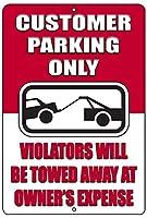 客が駐車して金属錫マークだけ商業小売店のドメスティックバイオレンスが牽引される