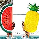 2 Piezas de Flotadores de Piscina para Niños Adultos Juguete de Tubo de Natación de Fruta Inflable para Verano Diversión al Aire Libre Fiesta de Agua Playa Tiempo