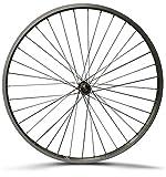 XB3 28 Zoll Vorderrad Laufrad Fahrrad Kastenfelge - Alufelge Aluminium Vollachse - Silber