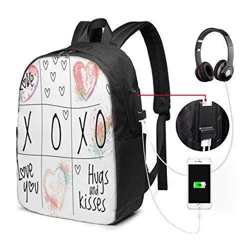 Usicapwear rugzak, Love You Hugs Kussen aquarel Splashes hart icoon Valentines Artwork