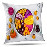 shotngwu Autumn Mix Decorative Throw Funda de Almohadas Cover, Abstract Geometric Brown Autumn Business Red Purple Colors Simple Cushion Cover for Bedroom Sofa Living Room 18X18 Inches