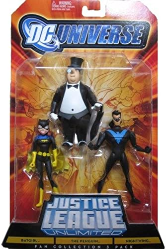 DC Universe Justice League Unlimited Fan Collection Action Figure 3Pack Batgirl, Penguin Nightwing