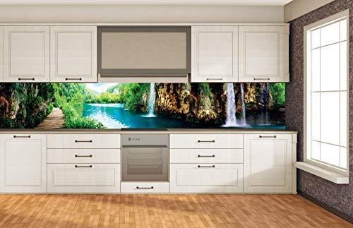 DIMEX LINE Küchenrückwand Folie selbstklebend ENTSPANNUNG IM Wald 350 x 60 cm | Klebefolie - Dekofolie - Spritzschutz für Küche | Premium QUALITÄT