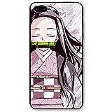 翔強 IPhone 7/8 Plus Cases 鬼滅の刃 スマホケース アニメ 漫画 8個模様 少女 綺麗 薄型 軽量 耐衝撃 アイフォンケース おしゃれ TPU 同人 萌えグッズ かわいい ソフト 脱着簡単 人気 携帯カバー 28 Black One Size