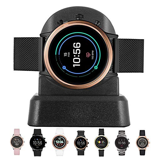 LeQuiven Watch Charger Compatible with Fossil Gen 5, Gen 4, Smart Watch Charging Stand for Fossil, Diesel, Kate Spade, Puma, Armani, Michael Kors and More, Must Have Smartwatch Accessories