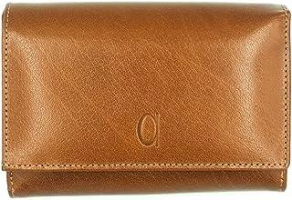 محفظة جلد مستطيلة ثلاث طبقات بشعار امامي للنساء من الفا ليذر كو - جملي