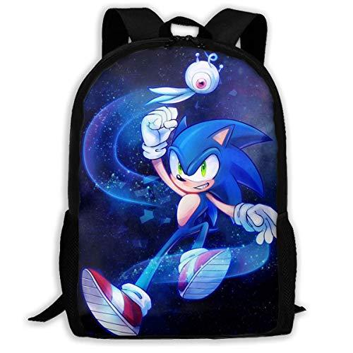 CHICLI Ding Hao 88 Boys Girls So_Nik_Hedge School Bag Backpack Bookbag College Shoulder Bag for Travel