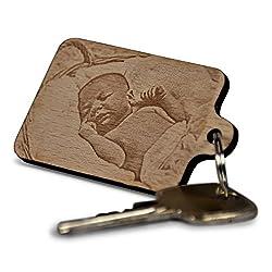 Wogenfels - Schlüsselanhänger aus Holz mit deiner Fotogravur persönlicher Gravur | QUALITÄT und Support aus Österreich